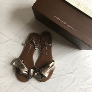 Jeffrey Campbell Pewter Big-Bow Sandals 8M